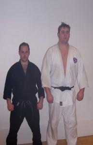 Sensei Nicholls and Sempai Irwin.