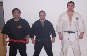 Prof Muro, Sensei Nichols and Sempai Irwin.
